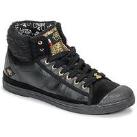 Chaussures Femme Baskets montantes Le Temps des Cerises BASIC 03 Noir