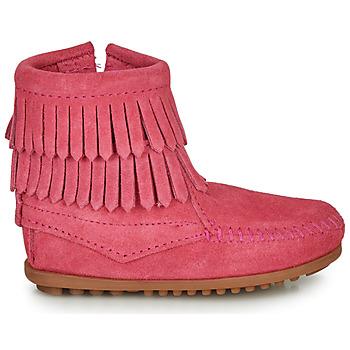 Boots enfant Minnetonka DOUBLE FRINGE SIDE ZIP BOOT