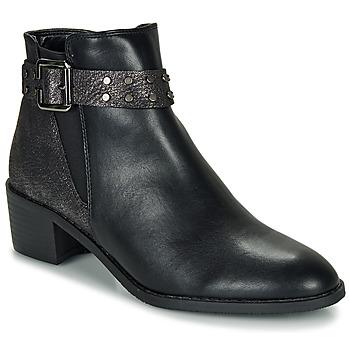 Chaussures Femme Boots Moony Mood FLOURETTE Noir
