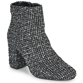 Chaussures Femme Bottines Moony Mood FRIPON Noir / Blanc