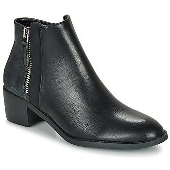 Chaussures Femme Boots Moony Mood FALINE Noir