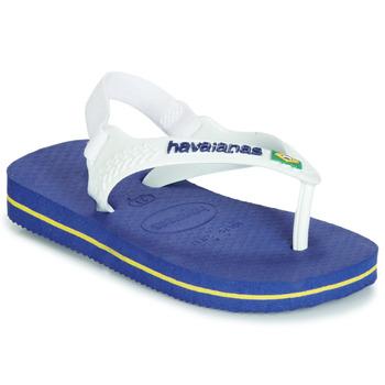 Chaussures Enfant Sandales et Nu-pieds Havaianas BABY BRASIL LOGO Marine