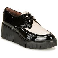 Chaussures Femme Derbies Wonders E6204-LACK-NEGRO-MILK Noir / Blanc