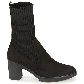 Bottines Wonders m3729-Suede-calcetin-negro