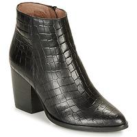 Chaussures Femme Bottines Wonders M4103-COCO-NEGRO Noir