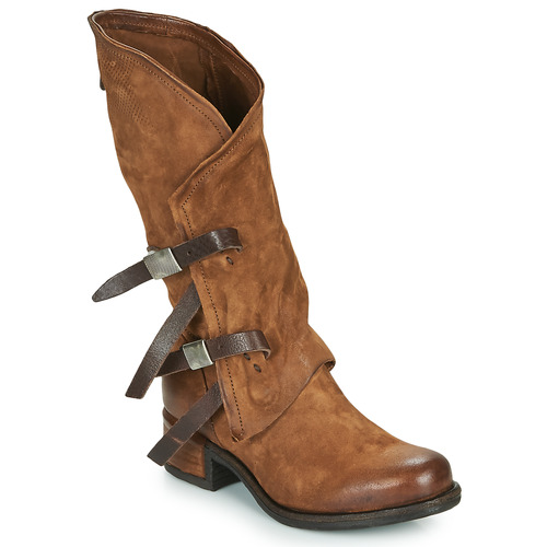 Chaussures Femme Bottes ville Airstep / A.S.98 ISPERIA BUCKLE Marron