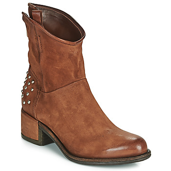 Chaussures Femme Boots Airstep / A.S.98 OPEA STUDS Camel