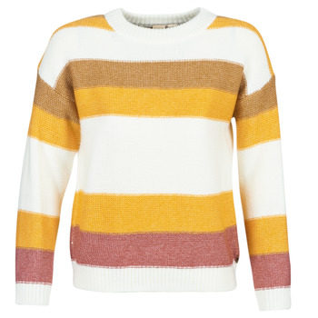Vêtements Femme Pulls Roxy TRIP FOR TWO STRIPE Blanc / Jaune