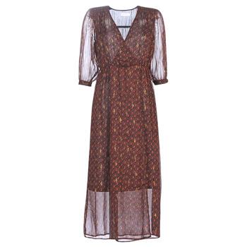 Vêtements Femme Robes longues See U Soon 9221839 Noir / Rouge