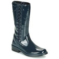 Chaussures Fille Bottes ville Citrouille et Compagnie LOUVETTE Bleu