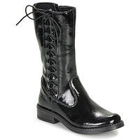 Chaussures Fille Bottes ville Citrouille et Compagnie LAMINOTE Noir