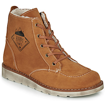 Chaussures Garçon Boots Citrouille et Compagnie LISITON Camel
