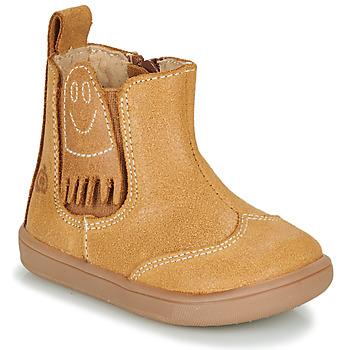 Chaussures Garçon Boots Citrouille et Compagnie LOKO Camel
