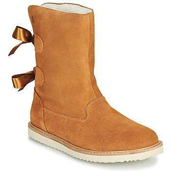 Chaussures Fille Boots Citrouille et Compagnie LILINA Camel