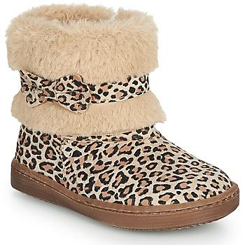 Chaussures Fille Boots Citrouille et Compagnie LILIFA Camel / Léopard
