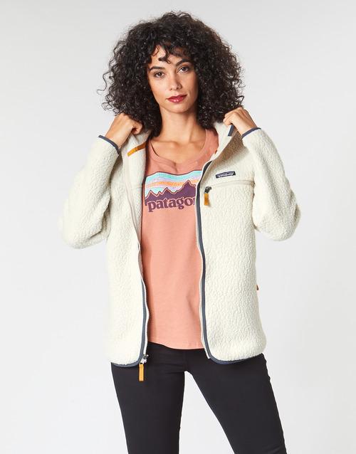 Vêtements Femme Polaires Patagonia W'S RETRO PILE HOODY Blanc