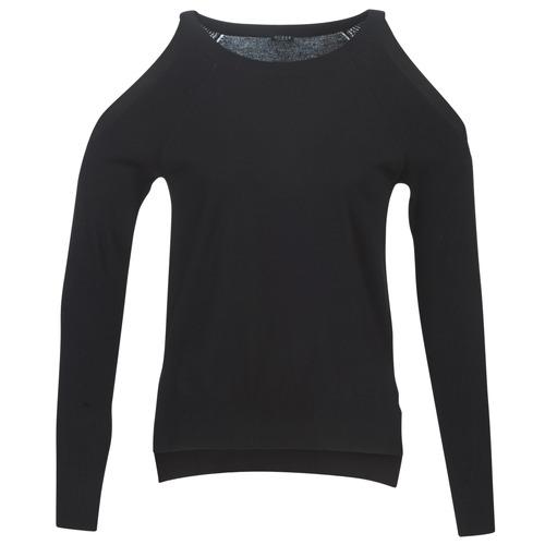 Vêtements Femme Pulls Guess CUTOUT Noir