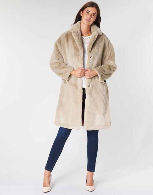 Vêtements Femme Manteaux Guess SHELLY Beige