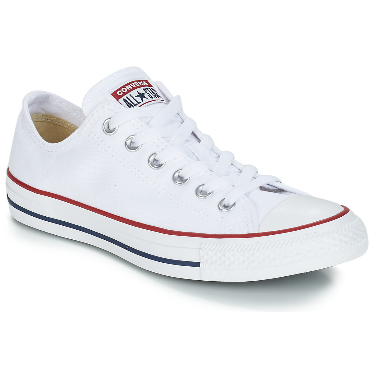 1754ca20526fd Chaussures Baskets basses Converse CHUCK TAYLOR ALL STAR CORE OX Blanc  Optical