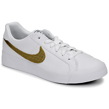 Chaussures Femme Baskets basses Nike COURT ROYALE AC SE W Blanc / Or