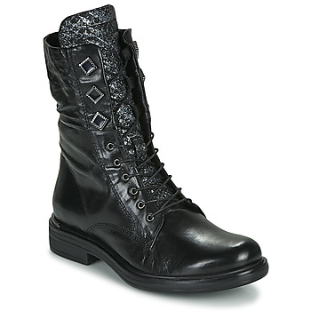 Chaussures Femme Boots Mjus CAFE METAL Noir / python