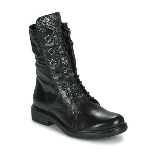 Chaussures Femme Boots Mjus CAFE METAL Noir / python