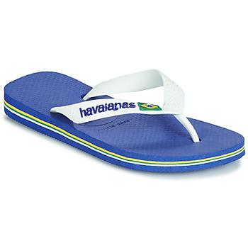Chaussures Enfant Tongs Havaianas BRASIL LOGO Marine