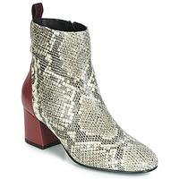 Chaussures Femme Bottines Gioseppo NEUBURG Python / Bordeaux
