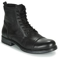 Chaussures Homme Boots Jack & Jones JFW RUSSEL LEATHER Noir