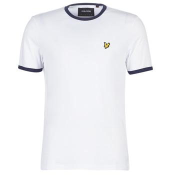 Vêtements Homme T-shirts manches courtes Lyle & Scott TS705V-Z660 Blanc
