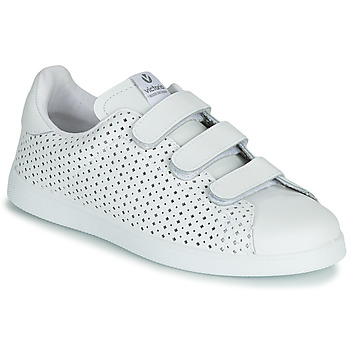 Chaussures Femme Baskets basses Victoria TENIS VELCRO PERFORA Blanc