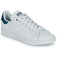 Chaussures Femme Baskets basses adidas Originals STAN SMITH W Blanc / bleu léo