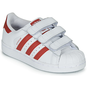 Chaussures Enfant Baskets basses adidas Originals SUPERSTAR CF C Blanc / rouge