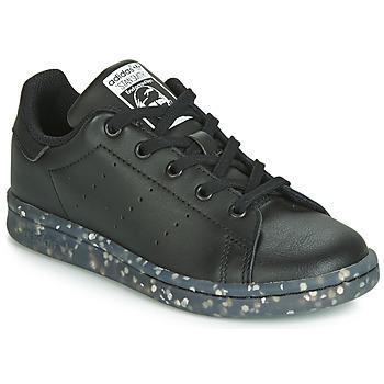 Chaussures Enfant Baskets basses adidas Originals STAN SMITH C Noir