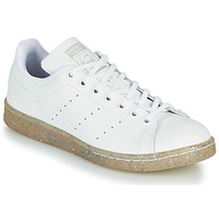 Chaussures Fille Baskets basses adidas Originals STAN SMITH J Blanc / Glitter