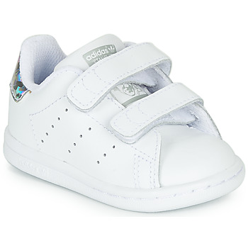 Chaussures Fille Baskets basses adidas Originals STAN SMITH CF I Blanc / argent