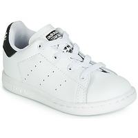 Chaussures Enfant Baskets basses adidas Originals STAN SMITH EL I Blanc / noir