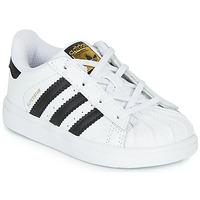 Chaussures Enfant Baskets basses adidas Originals SUPERSTAR I Blanc / noir