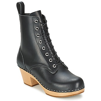 Chaussures Femme Bottines Swedish hasbeens LILIAN Noir