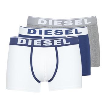 Sous-vêtements Homme Boxers Diesel DAMIEN Blanc / Marine / Gris