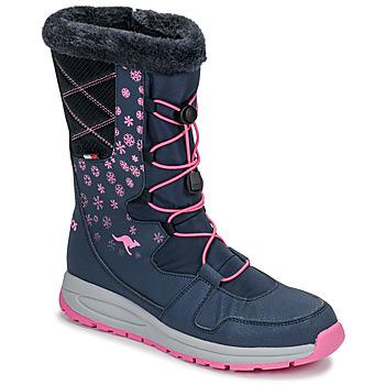 Chaussures Femme Bottes de neige Kangaroos K-GLAZE RTX Marine / Rose