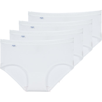 Sous-vêtements Femme Culottes & slips Sloggi  BASIC+ X 4 Blanc