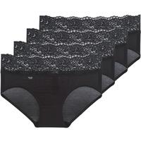 Sous-vêtements Femme Culottes & slips Sloggi ROMANCE X 4 Noir