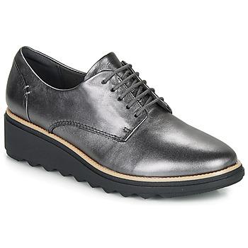 Chaussures Femme Derbies Clarks SHARON NOEL Argent