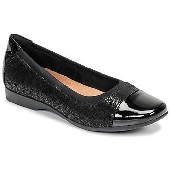 Chaussures Femme Ballerines / babies Clarks UN DARCEY CAP Noir