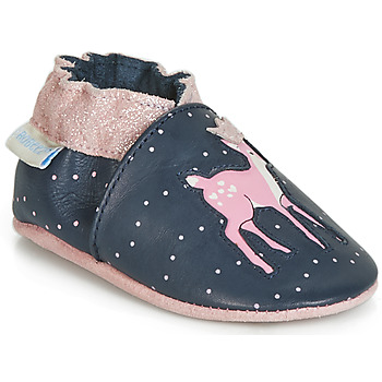 Chaussures Fille Chaussons bébés Robeez LITTLE FAWN Marine / Rose
