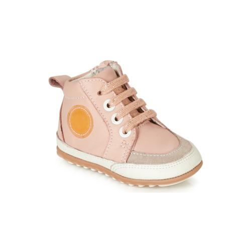 Chaussures Fille Boots Robeez MIGO Rose