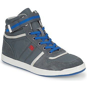 Chaussures Femme Baskets montantes Dorotennis BASKET NYLON ATTACHE Gris