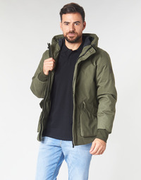 Vêtements Homme Blousons Scotch & Soda SHORT HOODED JACKET WITH INSIDE QUILTING Kaki