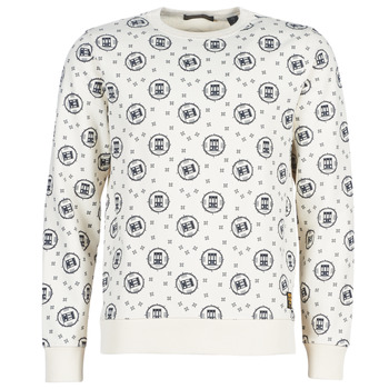 Vêtements Homme Sweats Scotch & Soda CREWNECK SWEAT WITH LOGO ALL-OVER PRINT Blanc